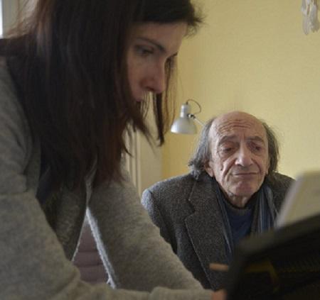 Giancarlo Cardini e Agnese in Villa Aurora mentre facevano prove