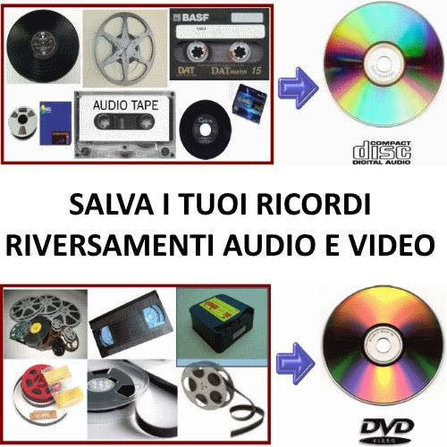 Riversamenti audio e video